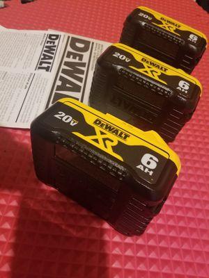Dewalt Battery 6.0AH 20V $65 Each for Sale in Norwalk, CA