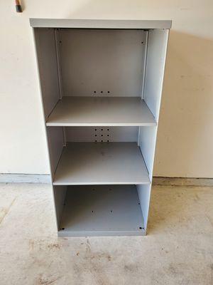 Gray audio/video metal storage shelf for Sale in Katy, TX