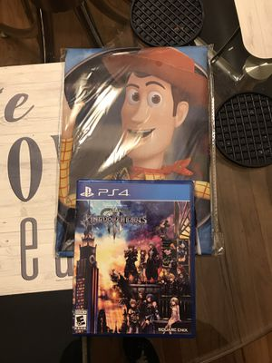Kingdom Hearts 3 (PS4) w/ Pre-Order Toy Story Poster for Sale in Tampa, FL