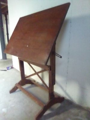 Vtg/Antique. Art Draft Table Desk... Wood and brass... Clean for Sale in Kansas City, MO