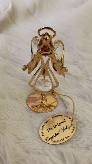 Crystal Delight Austrian Crystal 24K Gold Plated Angel Christmas Ornament for Sale in Manassas, VA