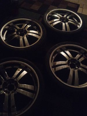 "20"" Chrome Universal Rims n Tires for Sale in Frostproof, FL"