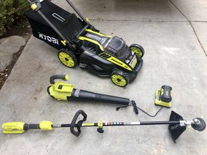 40V cordless lawn mower self propelled,blower,weed wacker, Ryobi set for Sale in San Diego, CA