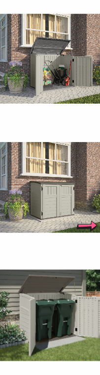 NEW Patio Outdoor Storage Shed Horizontal Utility Backyard Oasis Box Gallon Container Garden Plastic Furniture Waterproof Deck Yard Bin *↓READ↓* for Sale in Chula Vista, CA