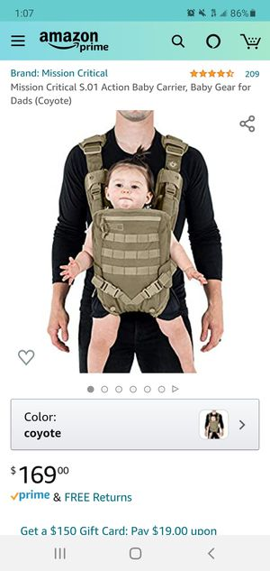 Mission Critical Military baby carrier for Sale in MENTOR ON THE, OH