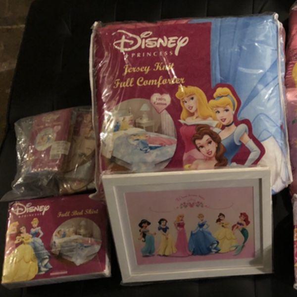 Complete Disney Princess Bedding Ensemble