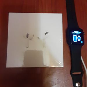 Series 3 Apple Watch / Apple Air Pod Pros for Sale in Milford, CT