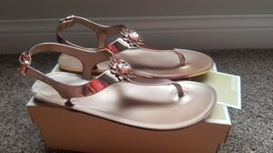 Women's Michael Kors Jelly Metallic Sandals ( PRICE REDUCED & FIRM) for Sale in Sunbury, OH
