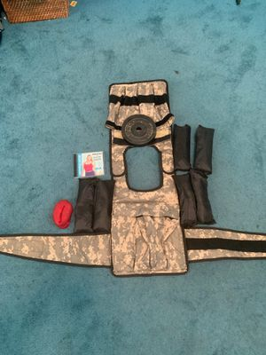 Cross 101 weighted walking vest with weights and accessories for Sale in Moreno Valley, CA