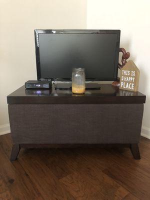 Dark brown end table with storage for Sale in Brambleton, VA