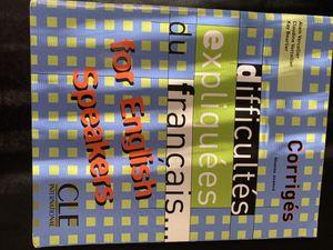 Difficultés expliquées du français...for English speakers for Sale in Ithaca, NY