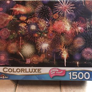 NEW!!! 1500 Piece Jigsaw Puzzle FIREWORKS EXPLOSION for Sale in Torrance, CA