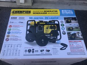 Champion generator 4000-Watt DH Series Open Frame Inverter with Wireless Remote Start for Sale in Columbus, OH