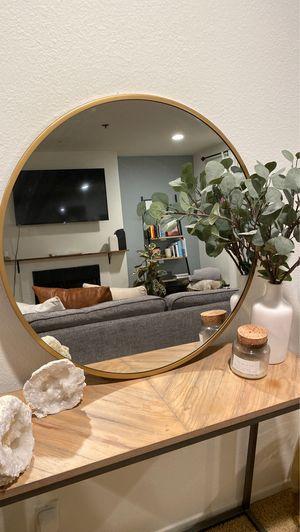 Round Brass Frame Wall Mirror for Sale in Santa Monica, CA