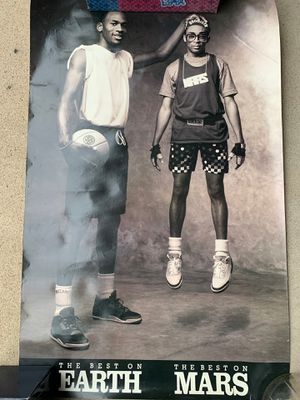 Michael Jordan and spike lee vintage Nike poster: the best on earth and the best on mars for Sale in San Diego, CA