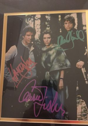 Star Wars Autographed Poster Still In Plastic for Sale in Jacksonville, FL