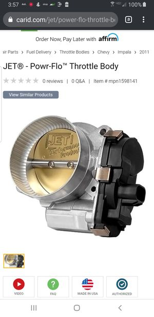 Jet Throttle Body for 2011 Chevy Impala for Sale in Durham, NC