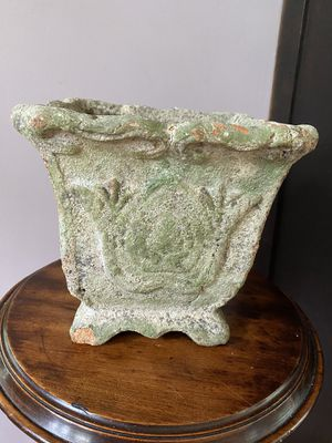Vintage green terra cotta plant pot with water hole. for Sale in Yonkers, NY