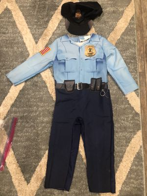 Police officer jumpsuit and hat costume Size 2-3t for Sale in Chino, CA