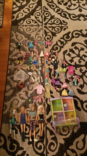 Barbies, Polly Pockets, Accessories/Clothes for toys for Sale in Dearborn, MI