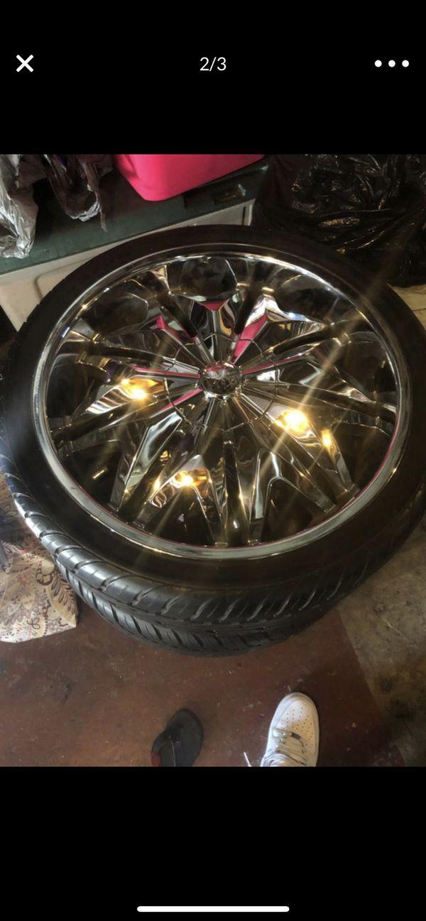 "20"" rims trade for factory Cadillac rims"