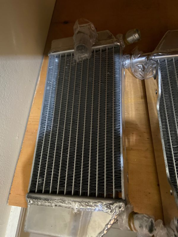Dirt bike Honda motorcycle radiator