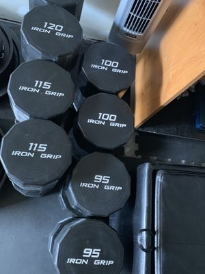 470lbs Iron Grip Strength urethane dumbbell set for Sale in Parker, CO