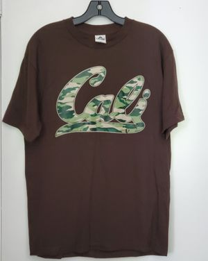 Cali T shirt Camo print on Brown T shirt Size med for Sale in Chula Vista, CA