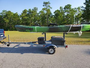 Custom kayak trailer with 12 ft pedal drive kayak for Sale in Gaston, SC