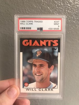 Will Clark Rookie 1986 Topps Traded #24T PSA 9 Mint San Francisco Giants Baseball Cards for Sale in Las Vegas, NV
