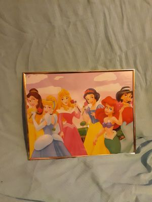 Disney princess framed picture for Sale in Lewiston, ME