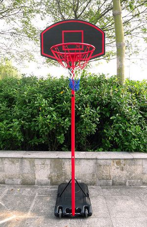 """New in box $50 Junior Kids Sports Basketball Hoop 27""""x18"""" Backboard, 5ft-7ft Adjustable Stand w/ Wheel for Sale in Pico Rivera, CA"""