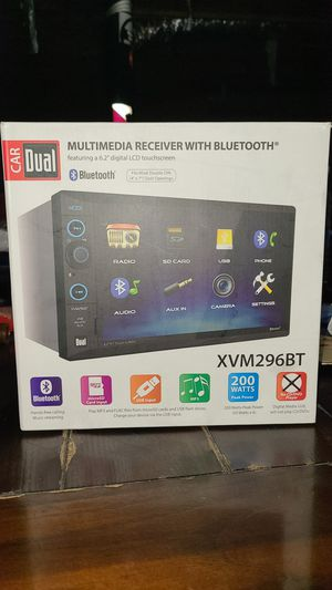 Car dual Multimedia receiver with bluetooth for Sale in Douglasville, GA
