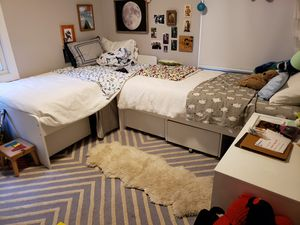 IKEA twin bed frame + mattress + 3 x drawers for Sale in Novato, CA