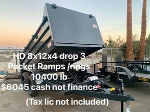 New Dump trailer 8x12x4 Hd axels $5350 cash not finance for Sale in Santa Ana, CA