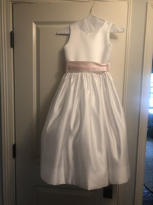 Nordstrom's Satin Flower Girl Dress w/ Pink Sash for Sale in Wheaton, IL