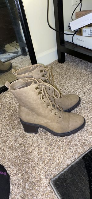 Syd Lace Up Boots from JustFab for Sale in Norfolk, VA
