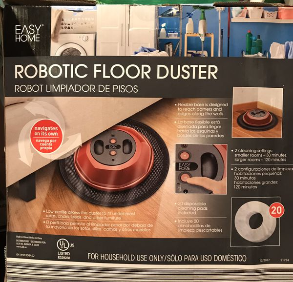 Robotic floor duster made by easy home