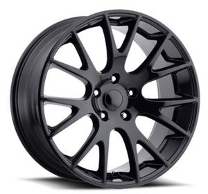 "22"" DODGE HELLCAT Style Rims Package New Replica Wheels & Tires ANY FINISH Machine Black • Gloss Black • Matte Black Rims & Tires Only $1299 for Sale in La Habra, CA"