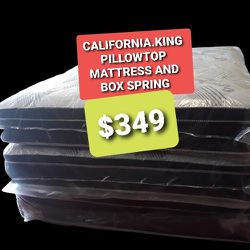 CALIFORNIA KING PILLOW TO0 MATTRESS AND BOX SPRING for Sale in Fresno,  CA
