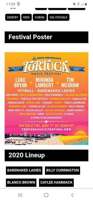 2020 TORTUGA TICKETS for Sale in Ocala, FL