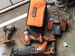 "Bundle for RidGid drill ""must read description"" for Sale in San Antonio, TX"