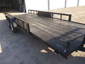 20 x 8 trailer with 2 ramps for Sale in Crosby, TX