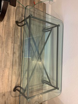 Glass table for Sale in Tracy, CA