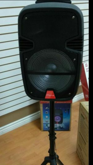 """New 3500 watt 15 """" Bluetooth speaker DJ Kareoke style comes with microphone and remote and stand brand new in box for Sale in Bakersfield, CA"""