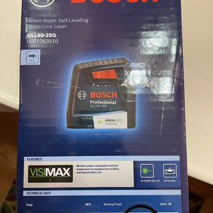 Bosch 40 ft. Self Leveling Cross Line Laser with VisiMax Green Beam for Sale in Takoma Park, MD
