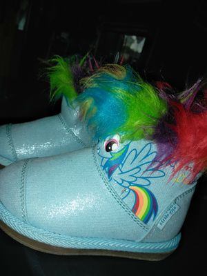 Girls my little pony ugg style rainbow dash boots brand new size 5.5c or 5.5k for Sale in Westminster, CA