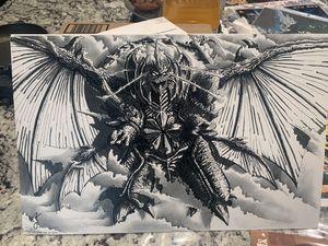 "Destroyah Hand Drawn Art Poster! Art Drawn By Lenny Romero 11""x17"" Godzilla for Sale in Corona, CA"