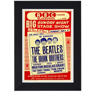 The Beatles classic rock pop print mini concert poster flyer music for Sale in Covina, CA