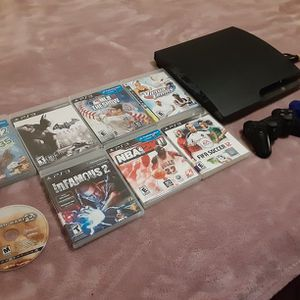 Sony Ps3 System GAMING BUNDLE with 8 Gamres amd 2 Controllers for Sale in Dallas, TX